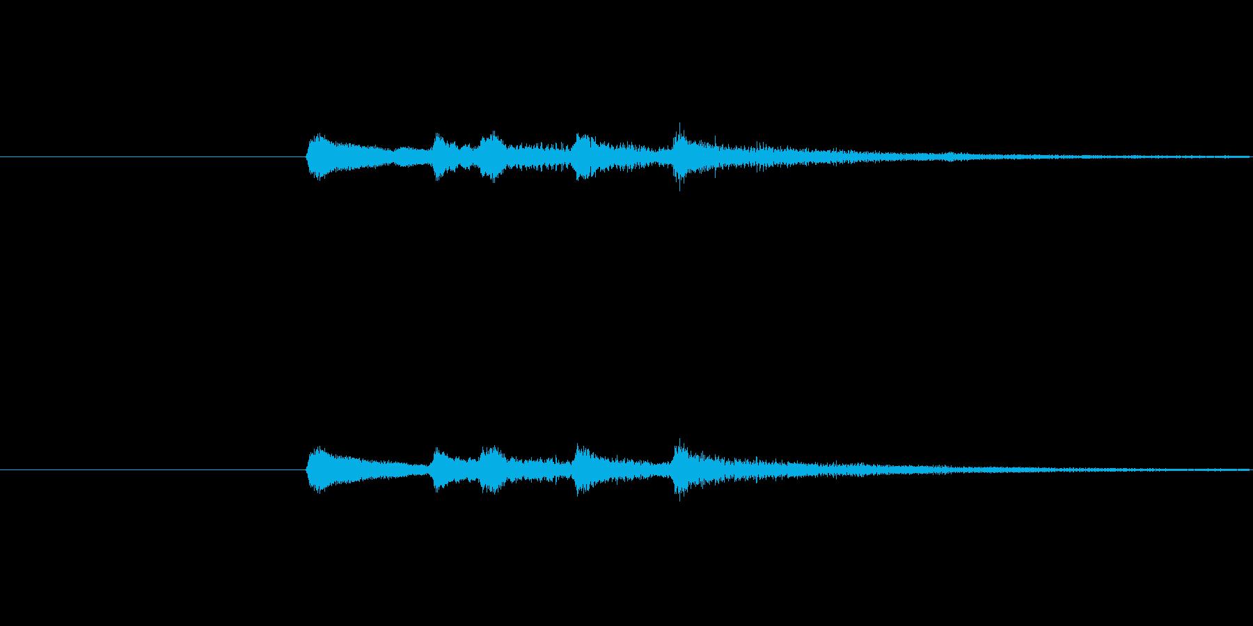「ゲームオーバー」的な短いジングルです…の再生済みの波形