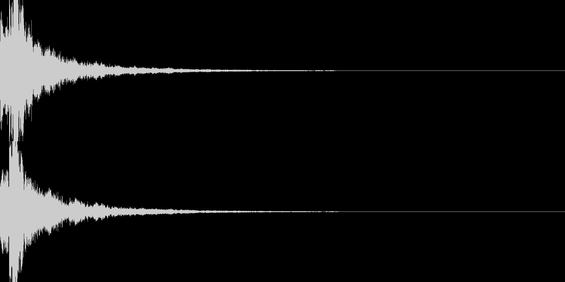 明るいテロップ音 ボタン音 決定音24cの未再生の波形