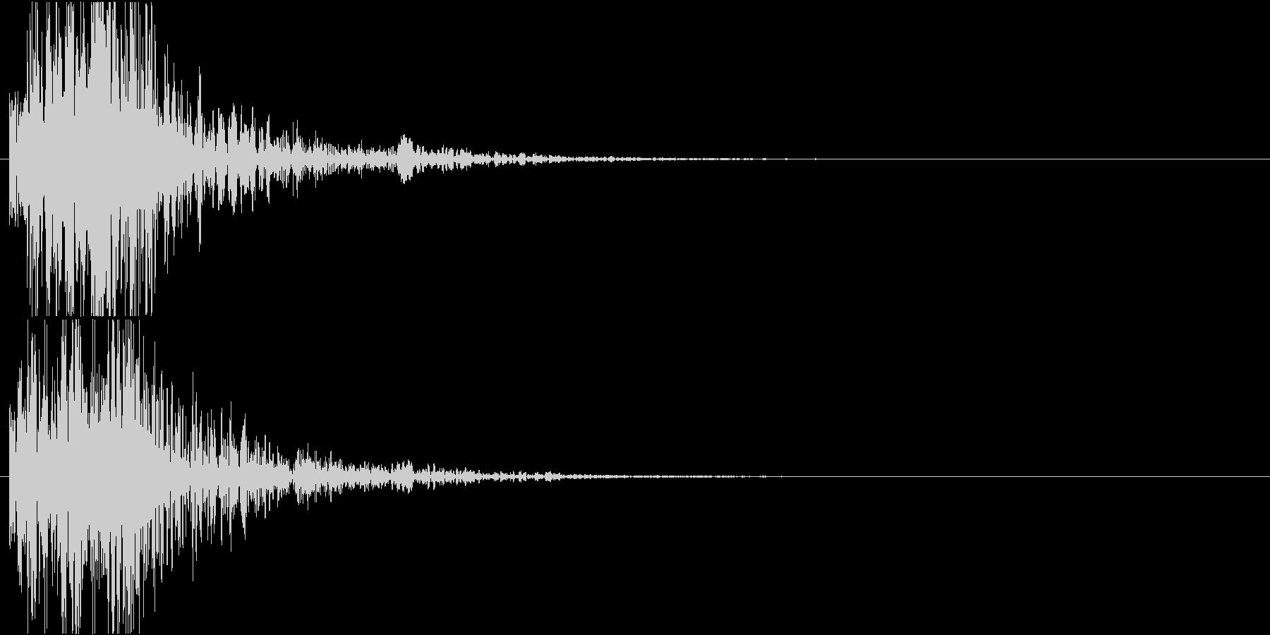 空間系を意識した短い効果音です。の未再生の波形