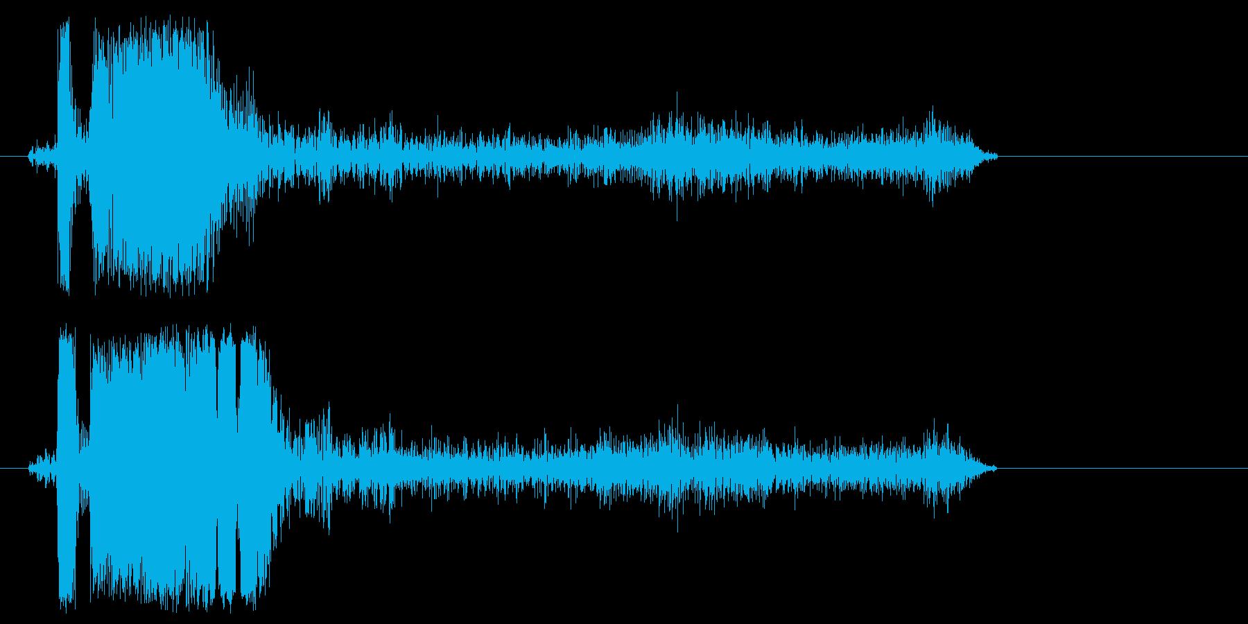 プシュッ(圧縮空気を使用したマシンの音)の再生済みの波形