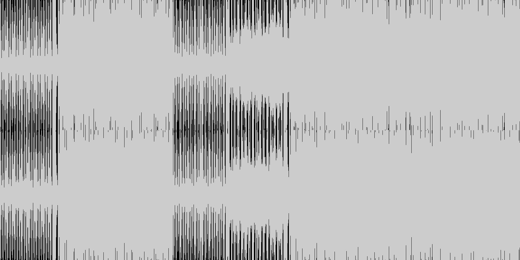 空のアスレチックのようなアクション風の未再生の波形