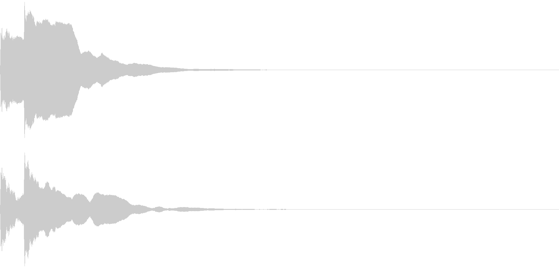 決定音47_シンセAGの未再生の波形