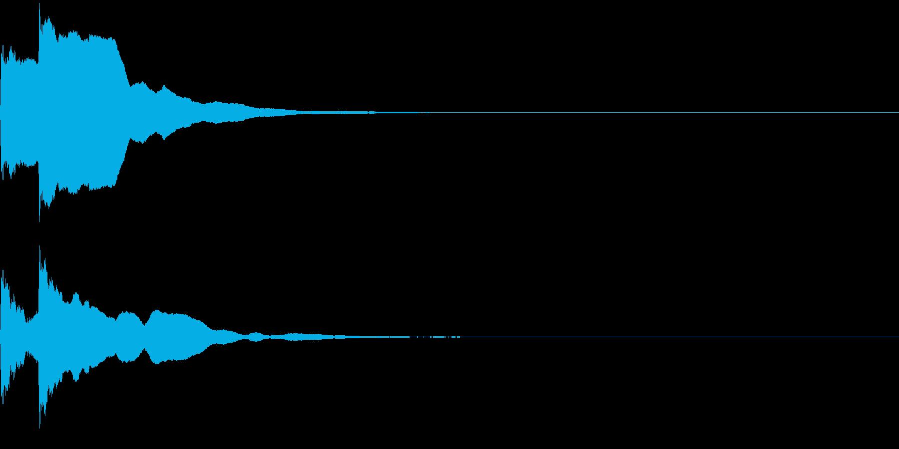 決定音47_シンセAGの再生済みの波形