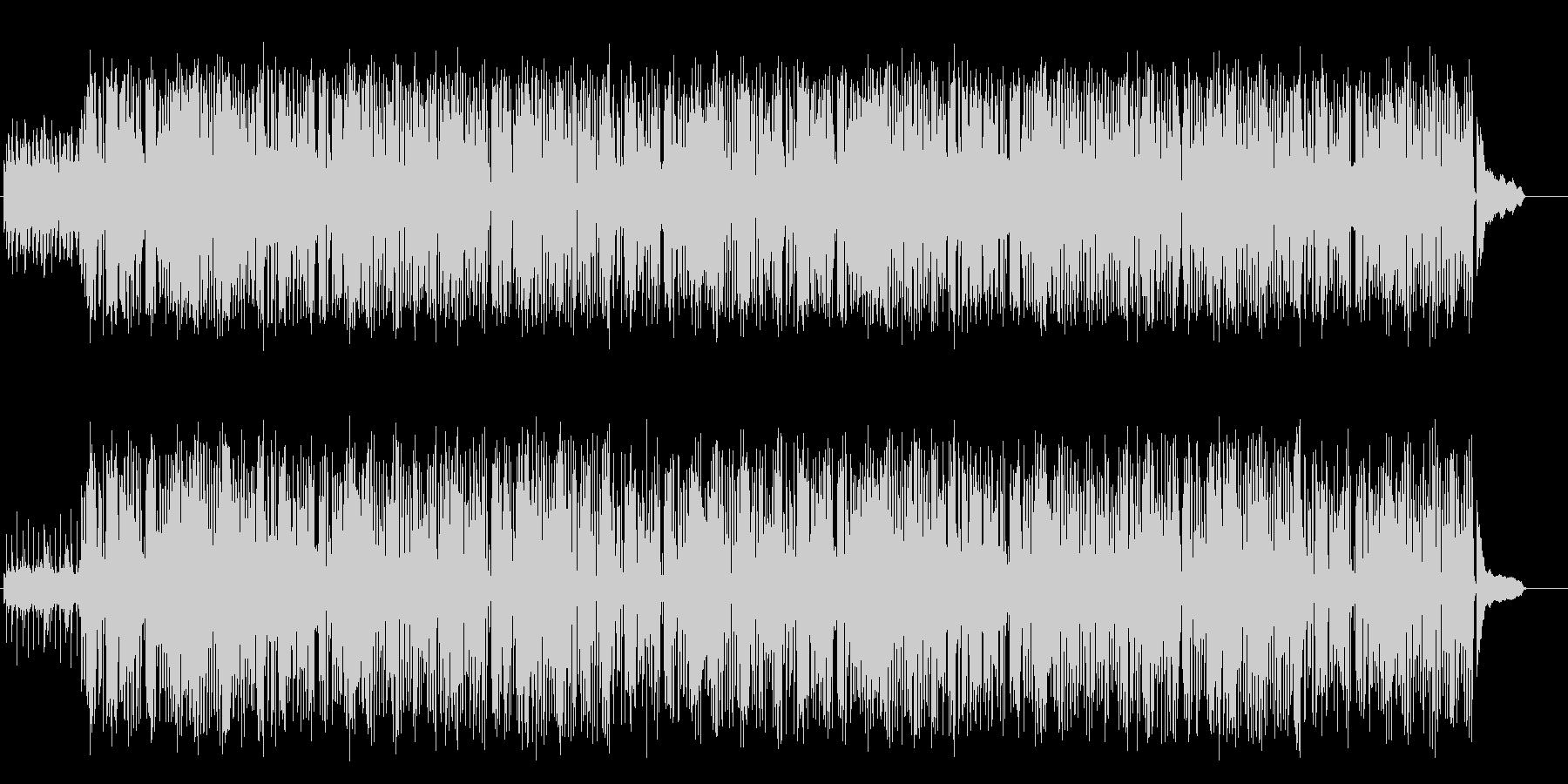 落ち着いたジャズ/ハウスの未再生の波形