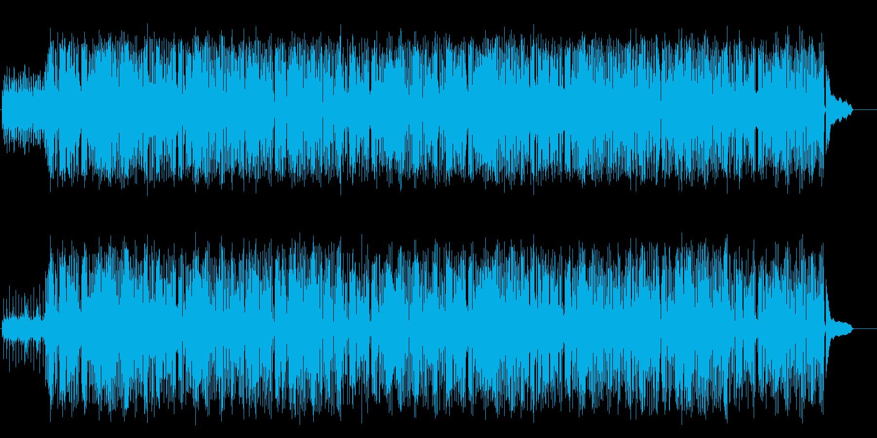 落ち着いたジャズ/ハウスの再生済みの波形