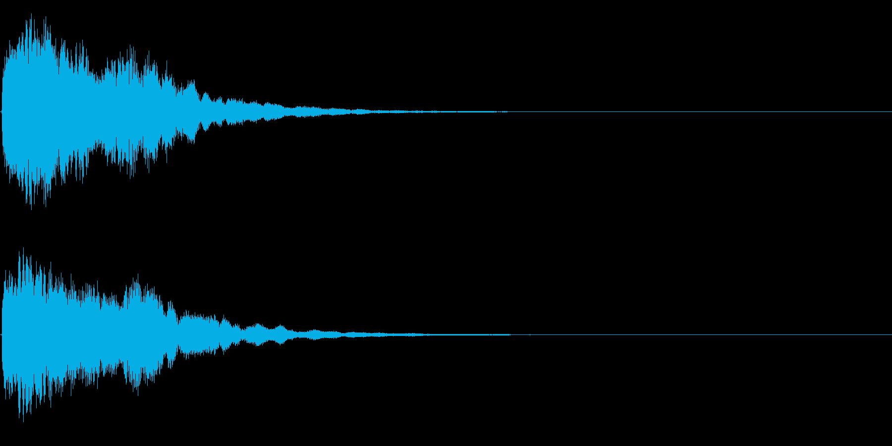 ゲームスタート、決定、ボタン音-060の再生済みの波形