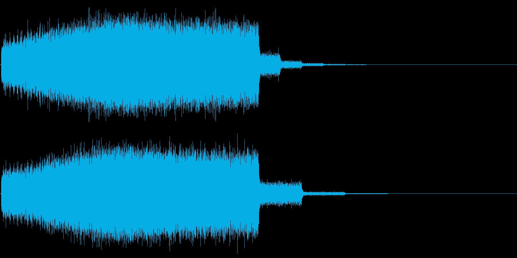 魔法などのエネルギーをチャージする音の再生済みの波形