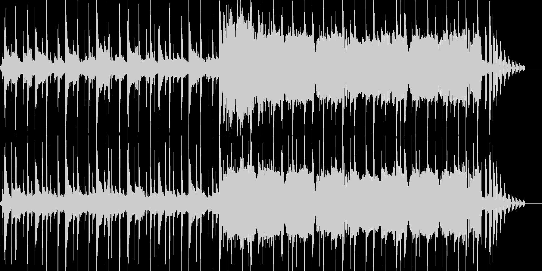落ち着いたBGMの未再生の波形