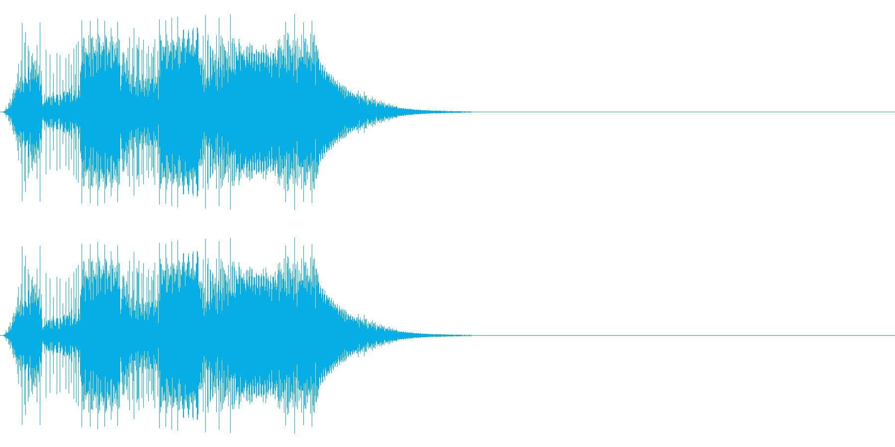 ボタン押下や決定音_キュピピ!の再生済みの波形