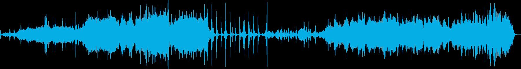 深海をさまようようなアンビエント曲の再生済みの波形
