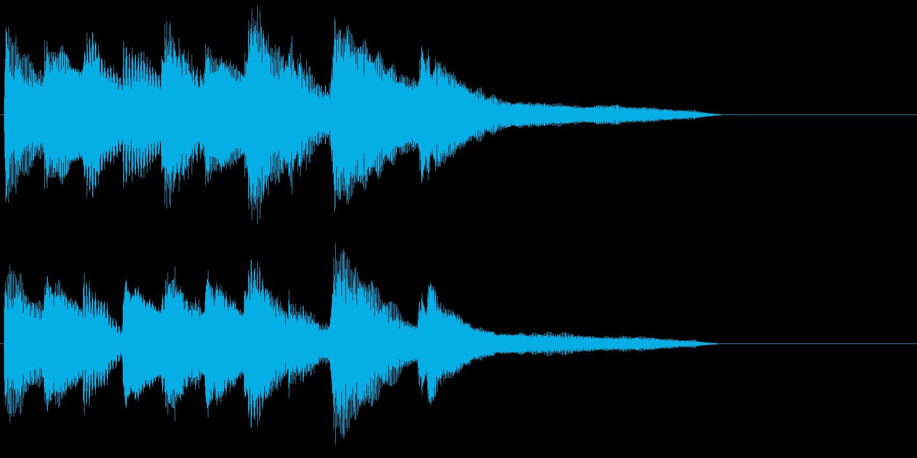 ピアノ ジングル03 切ない 初恋の再生済みの波形
