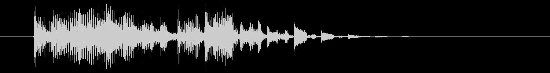 明るいテクノ風のジングル曲、サウンドロゴの未再生の波形
