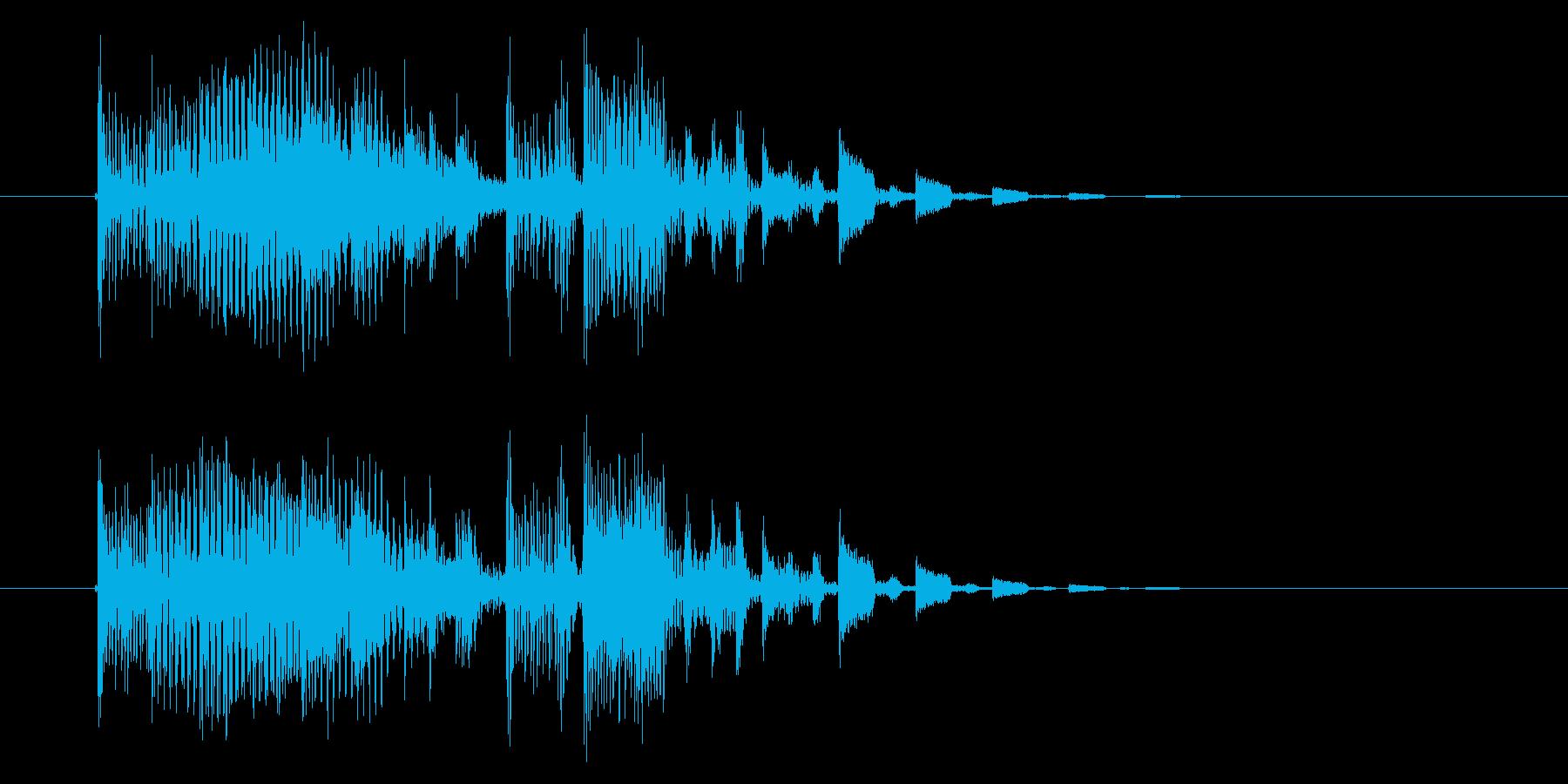 明るいテクノ風のジングル曲、サウンドロゴの再生済みの波形