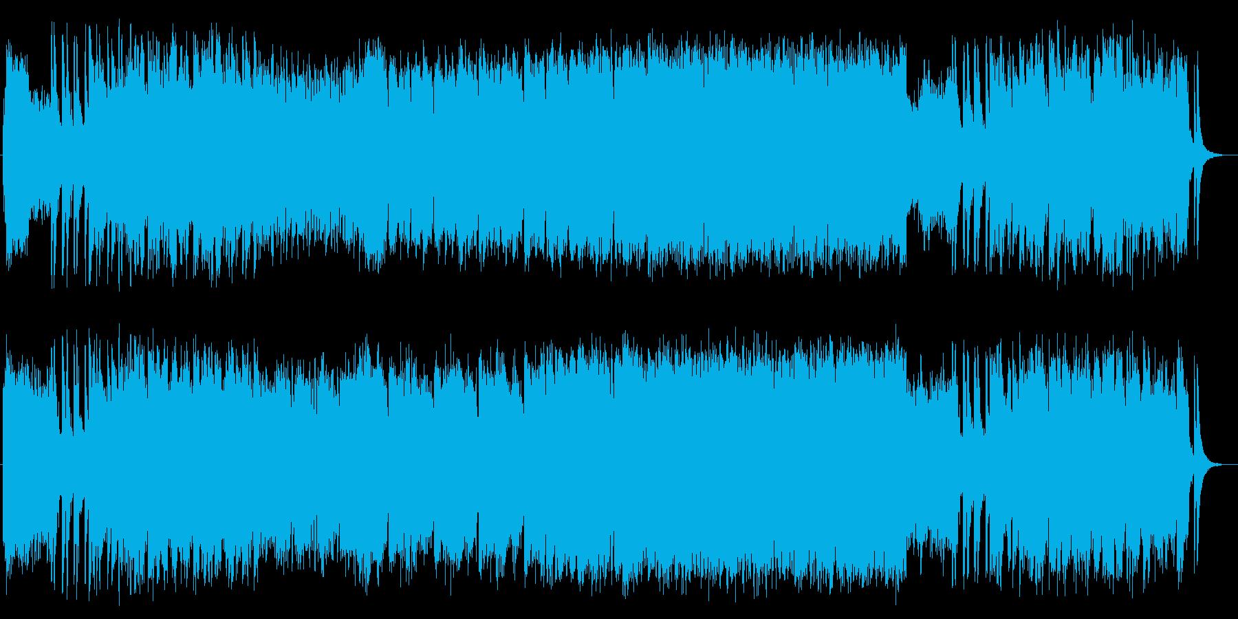 迫力と疾走感管楽器シンセサイザーサウンドの再生済みの波形