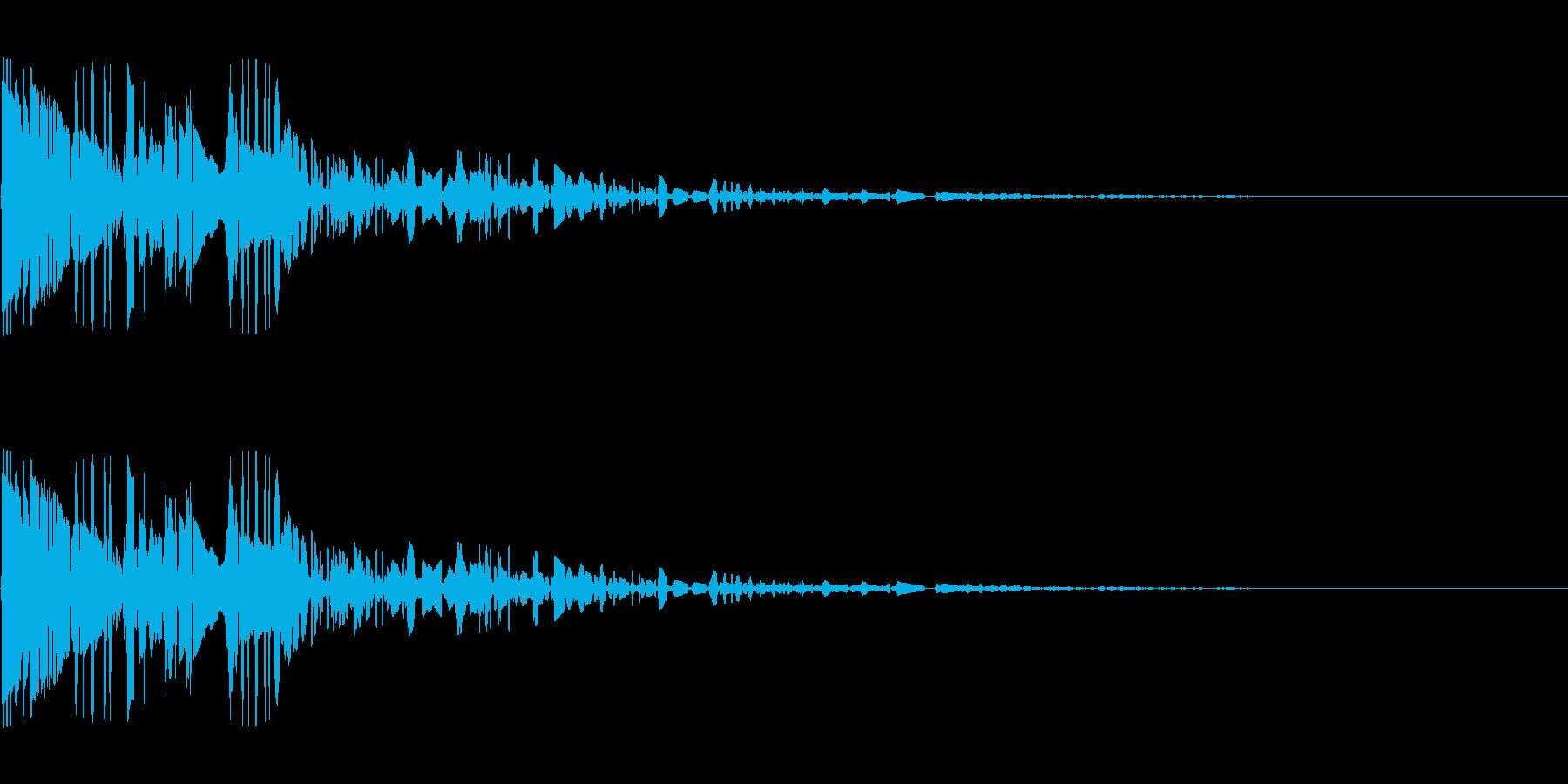 ドサッ(落下や倒れる衝撃音)04の再生済みの波形