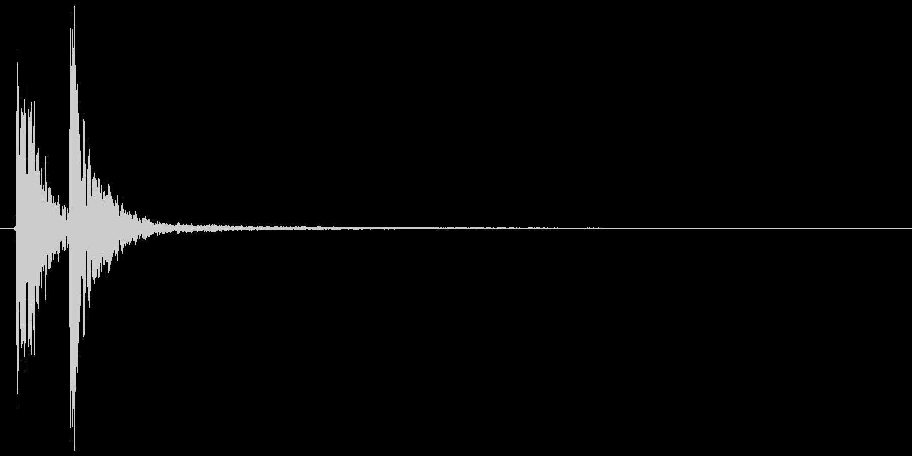 シンセ拍子木(カカン、チョチョン)の未再生の波形