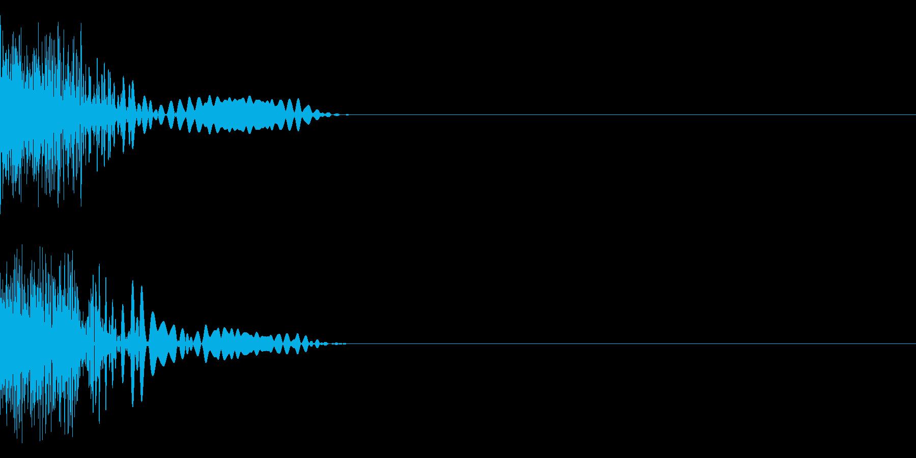 ビュンの再生済みの波形