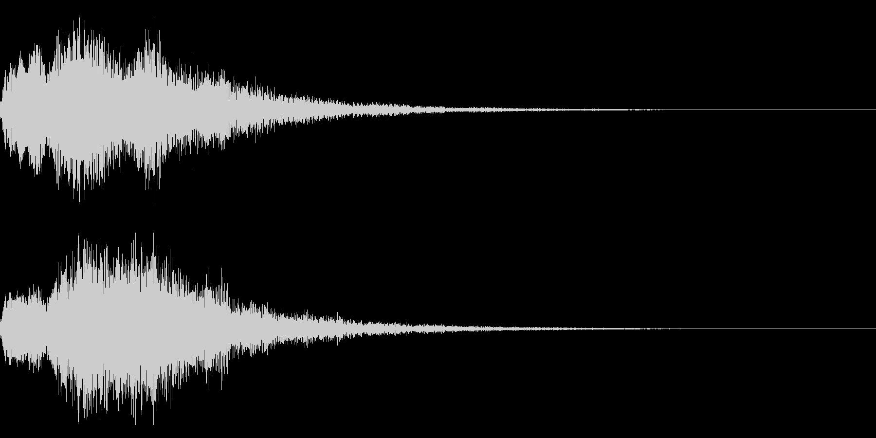 胡弓のチャイナ中国インパクトジングル17の未再生の波形