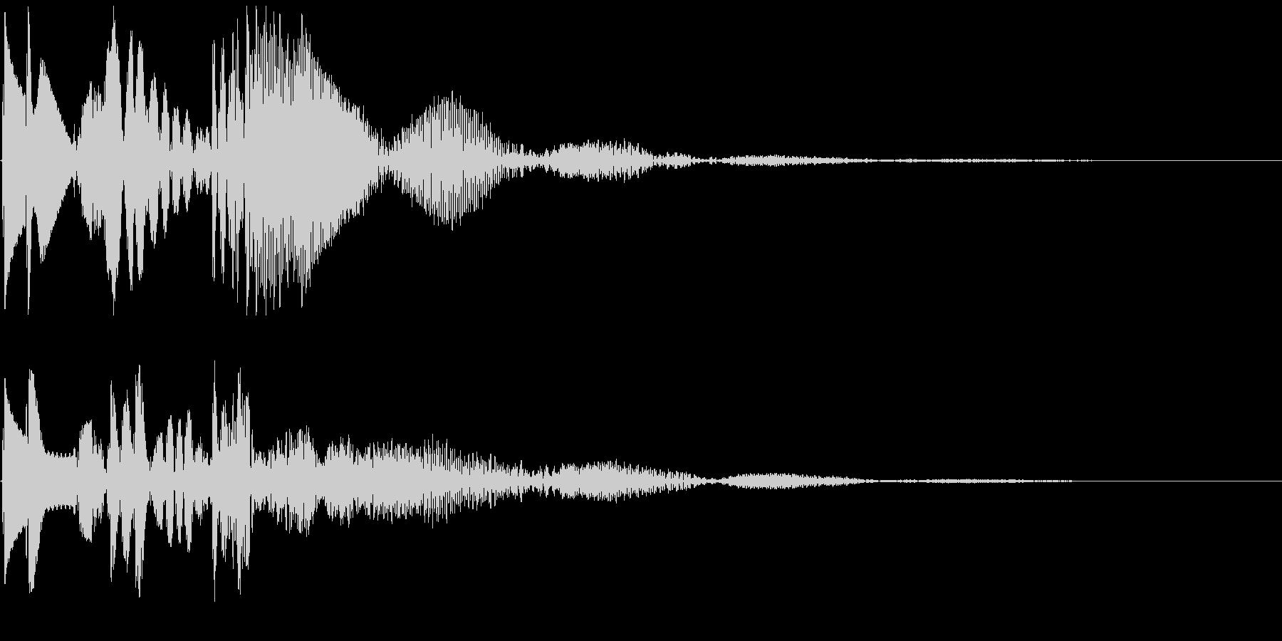 ピピポ↓ 角の無い丸みをおびたボタン音の未再生の波形