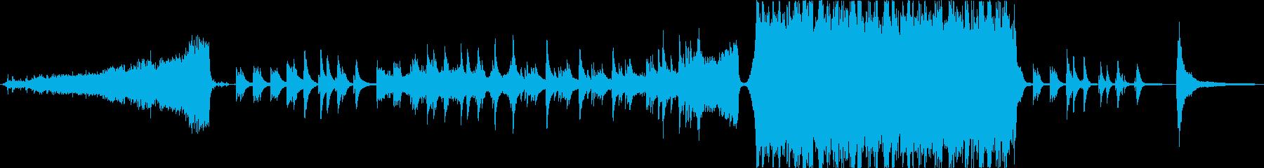 ピアノメインのオーケストレーション感動曲の再生済みの波形