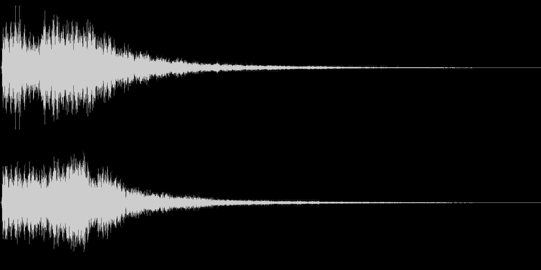NG音 間違った動作等を想定の未再生の波形