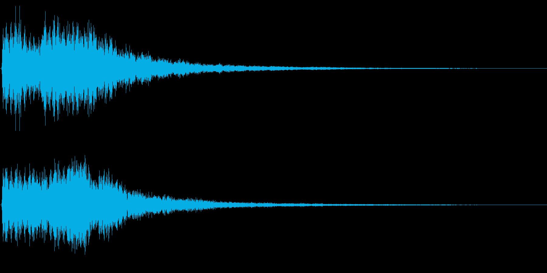 NG音 間違った動作等を想定の再生済みの波形