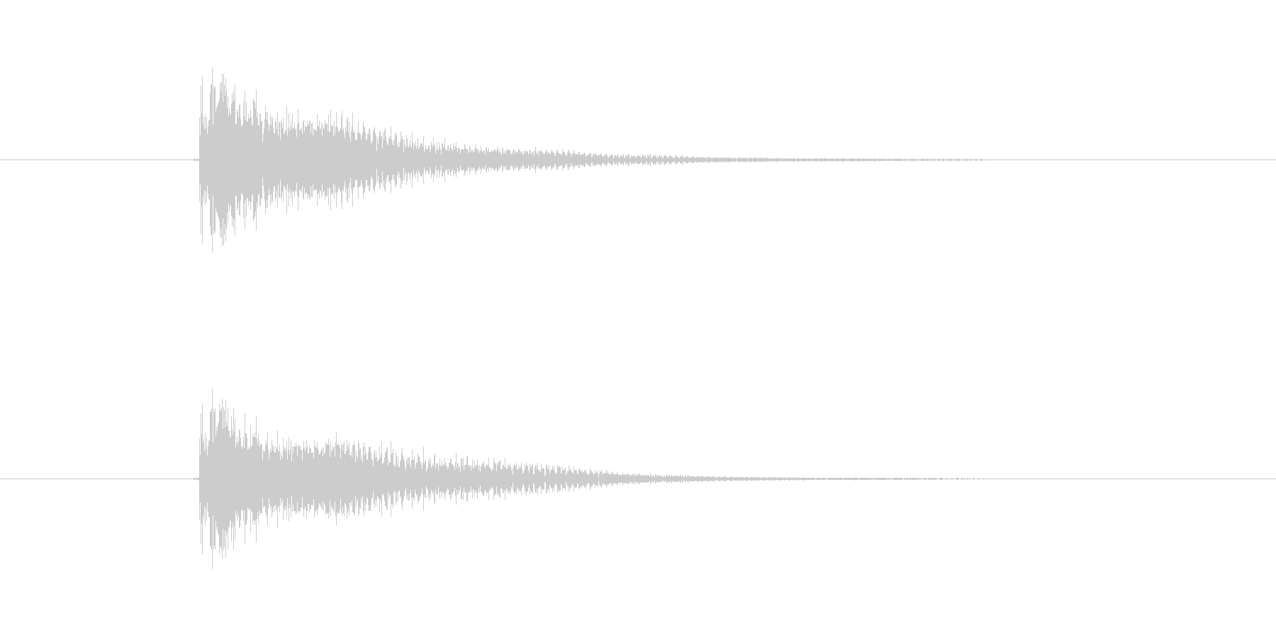 ジャーン(ギター、弦楽器)の未再生の波形