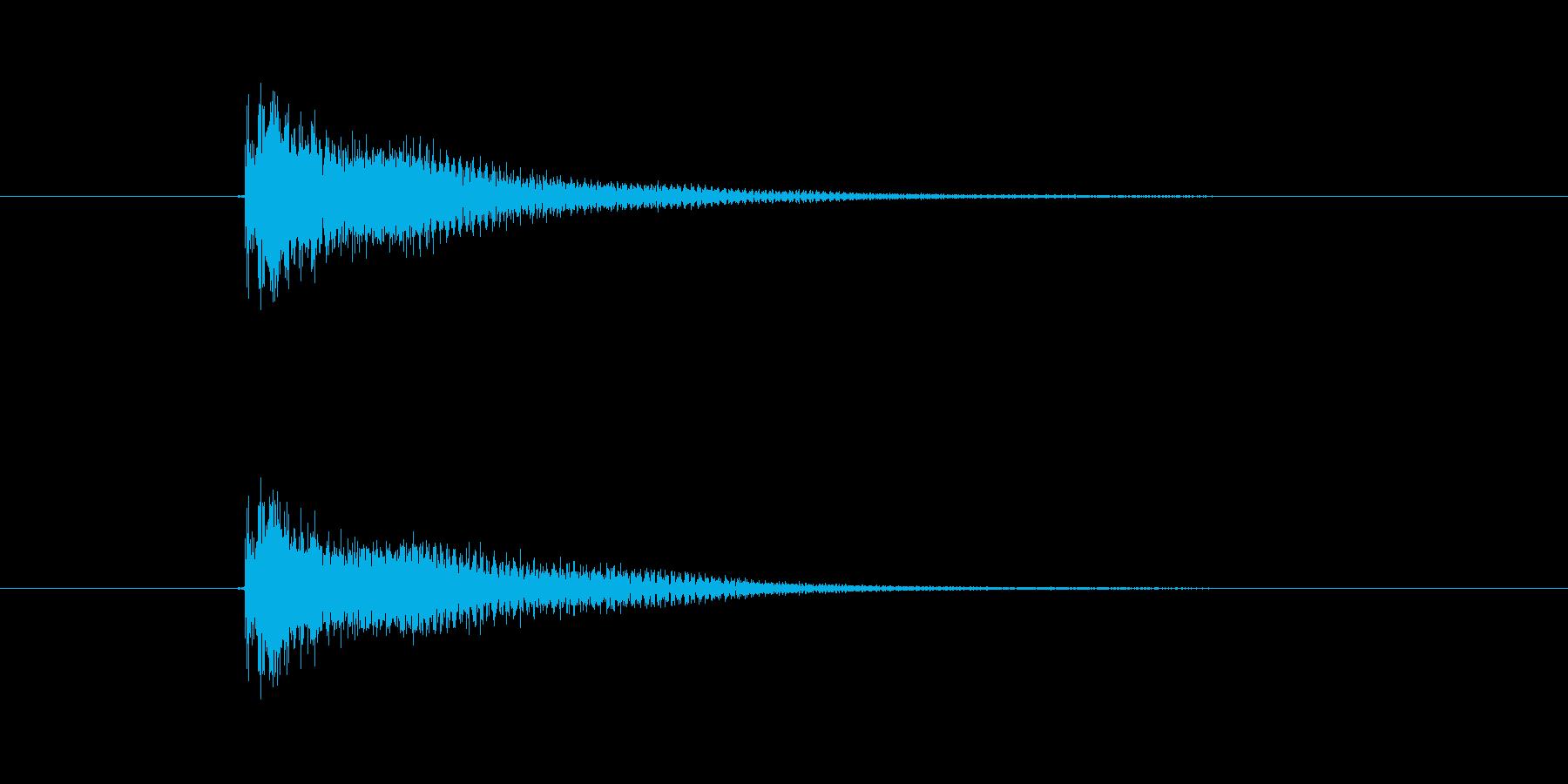 ジャーン(ギター、弦楽器)の再生済みの波形