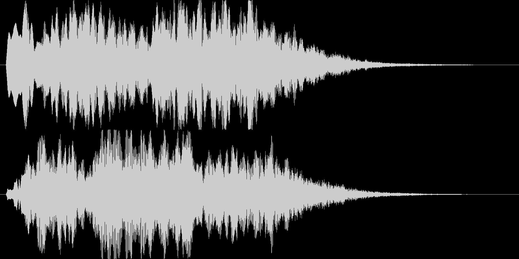 ふわふわ、シャラララと広がるような音の未再生の波形