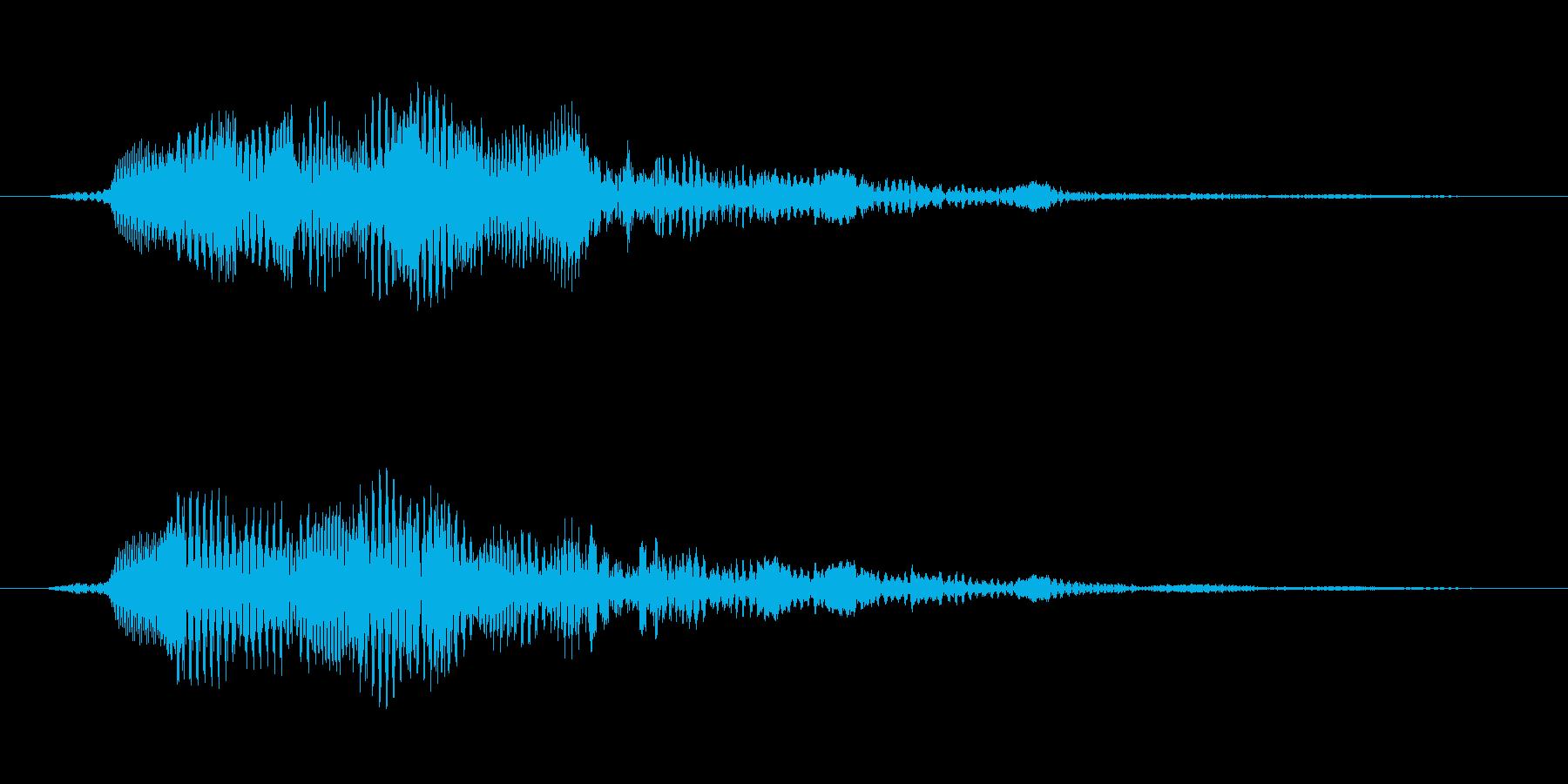 決定/ボタン押下音(アプリ向け)の再生済みの波形