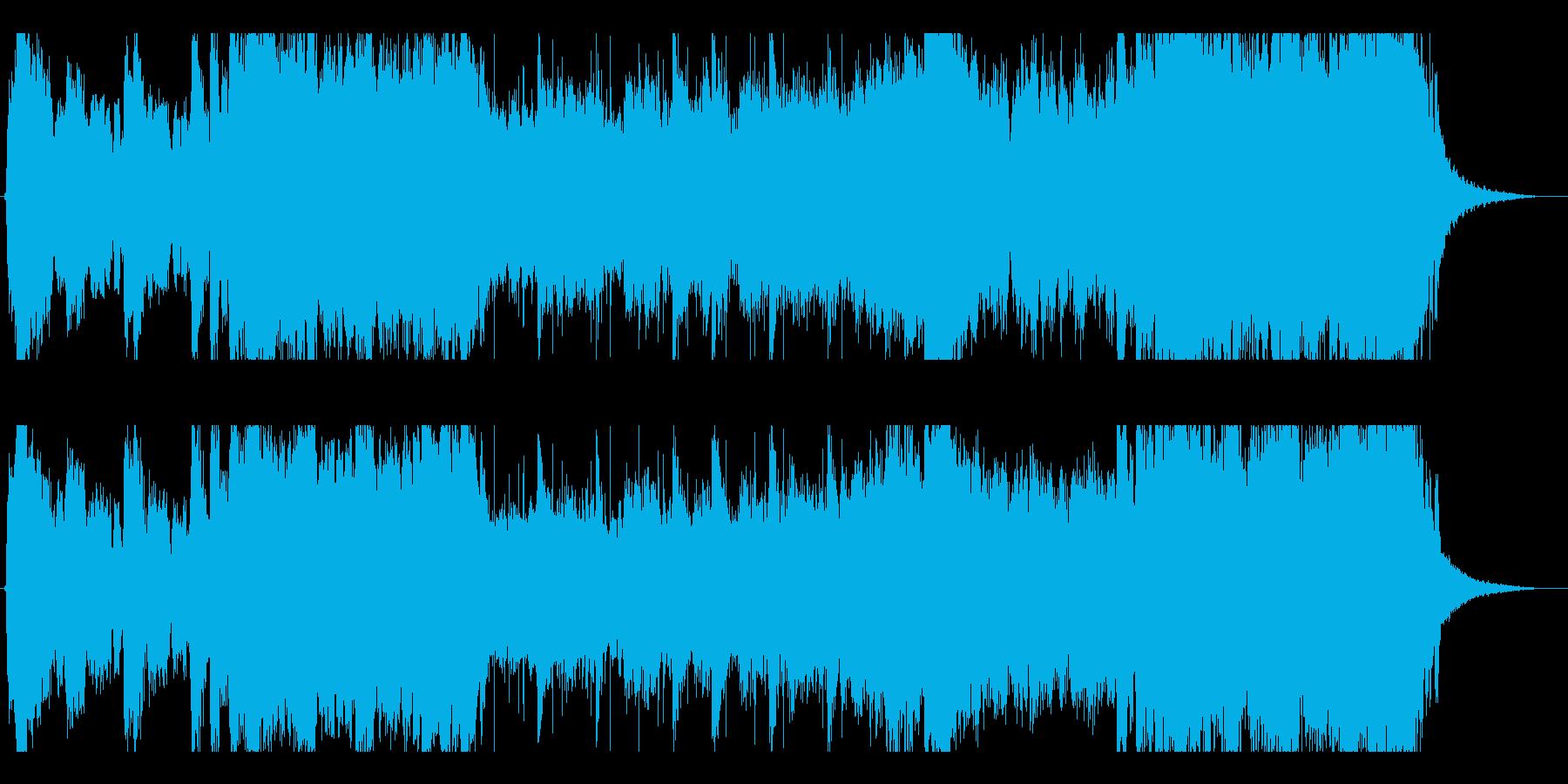 メッセージある迫力のBGM(サントラ風)の再生済みの波形