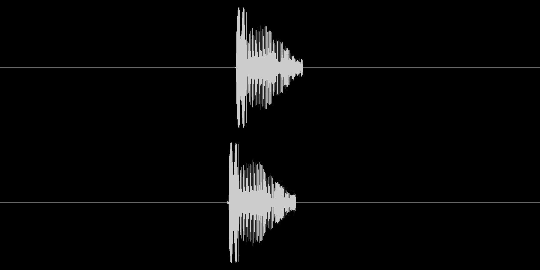 ピッ(叩かれた音)(弾かれた音)の未再生の波形