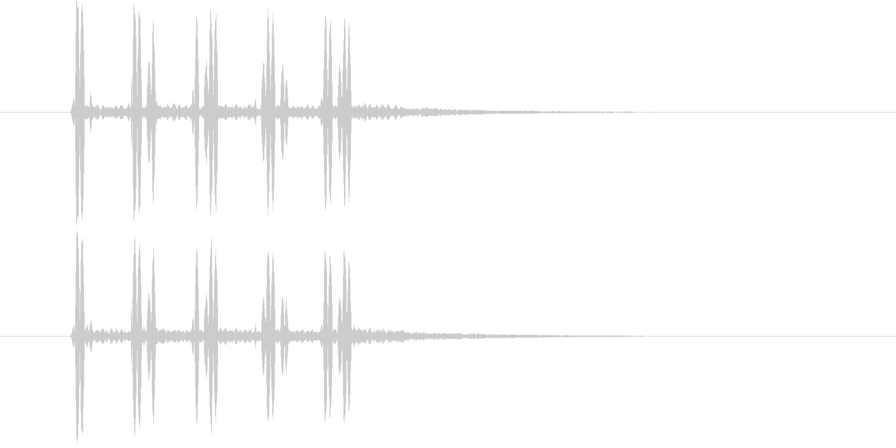 近未来SFボタン音ビープ音クリック音の未再生の波形