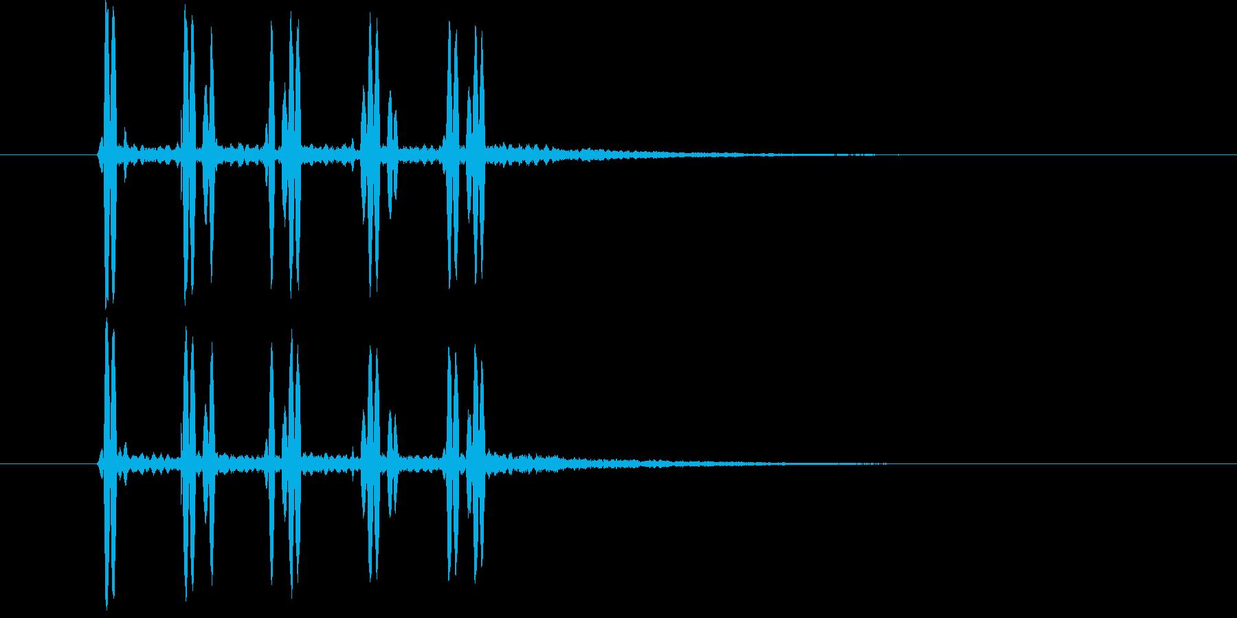 近未来SFボタン音ビープ音クリック音の再生済みの波形
