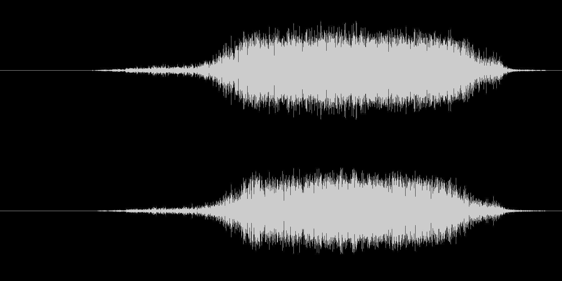 プシュッ 炭酸の抜ける音の未再生の波形