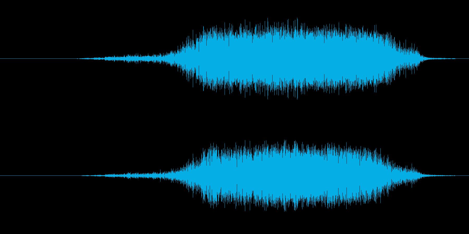 プシュッ 炭酸の抜ける音の再生済みの波形