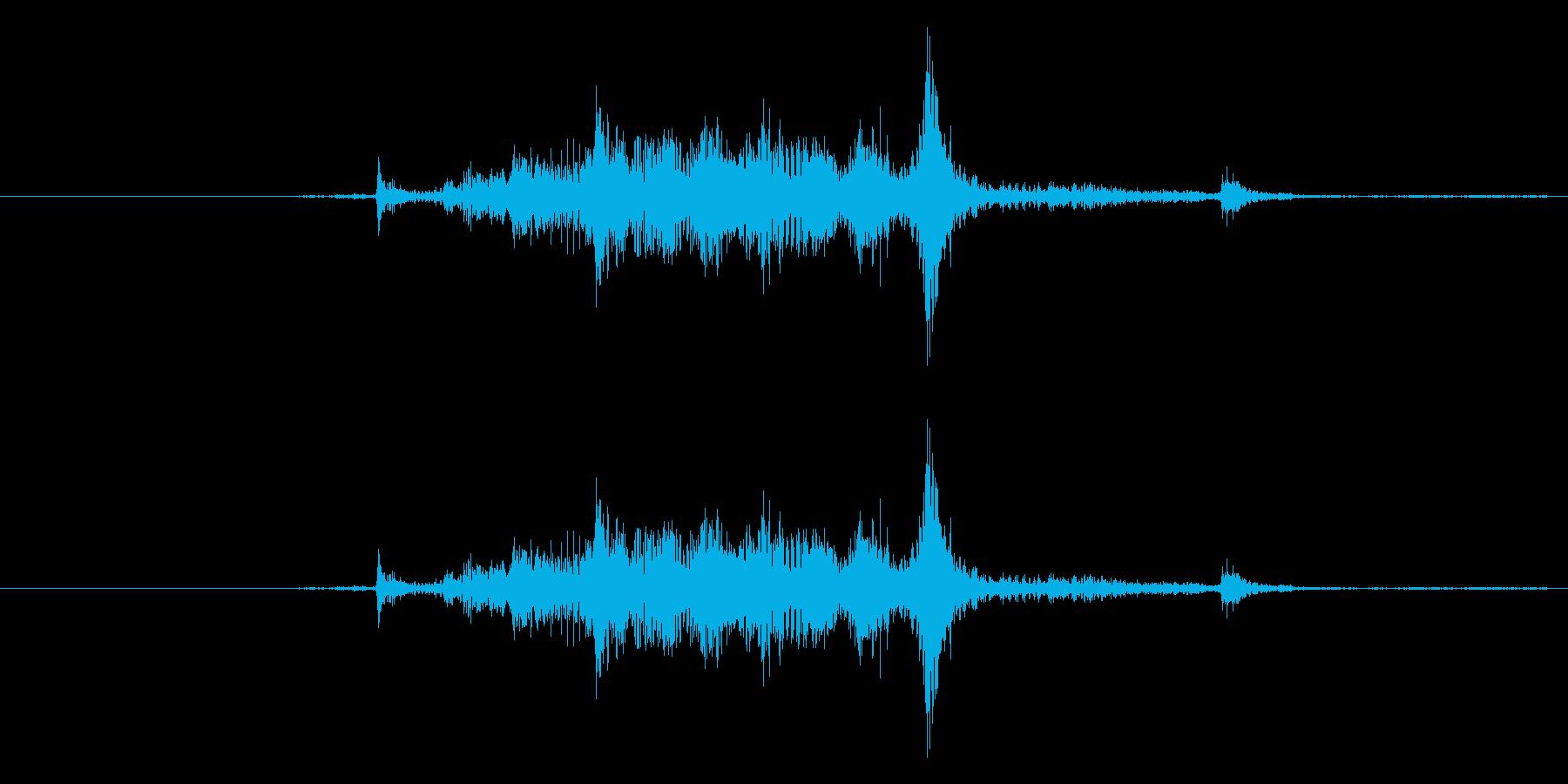 カーテンを開ける音(シャー)の再生済みの波形