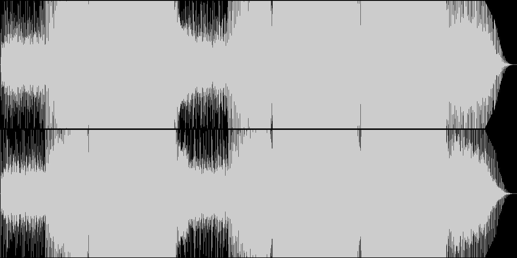 映像用シーケンスが美しい速い感動系EDMの未再生の波形