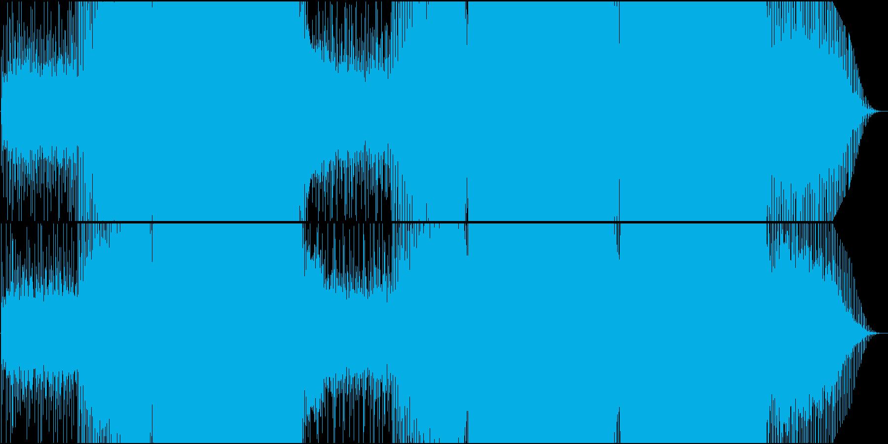 映像用シーケンスが美しい速い感動系EDMの再生済みの波形