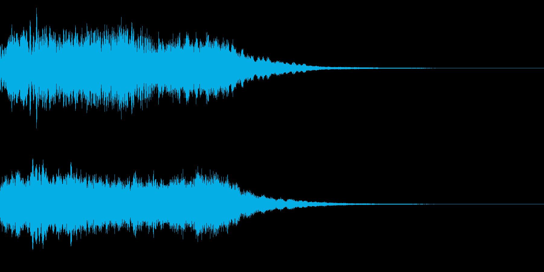 神社 結婚式の笛(笙)和風フレーズ!03の再生済みの波形