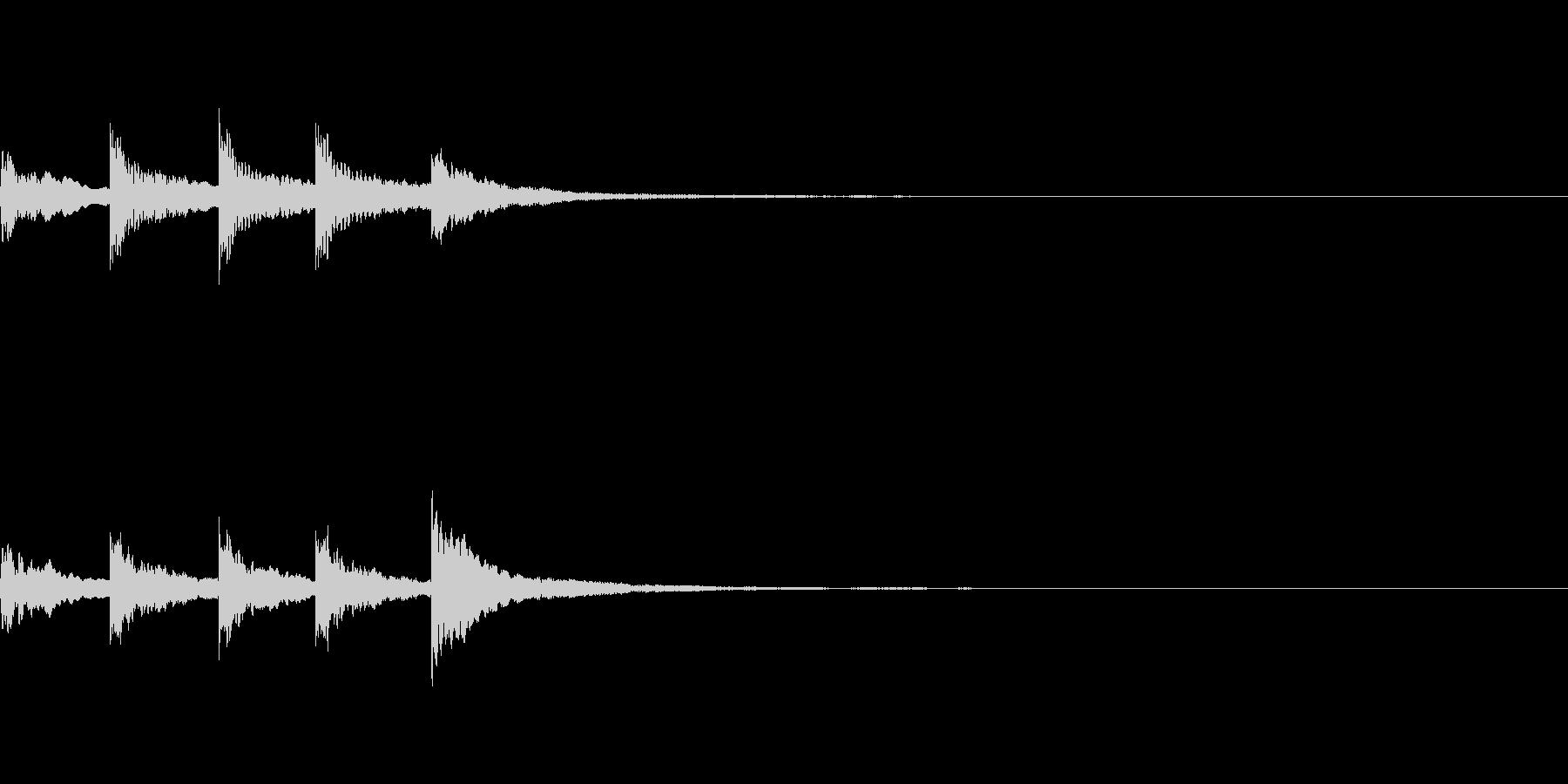 【SE 効果音】ティロティリロリンの未再生の波形