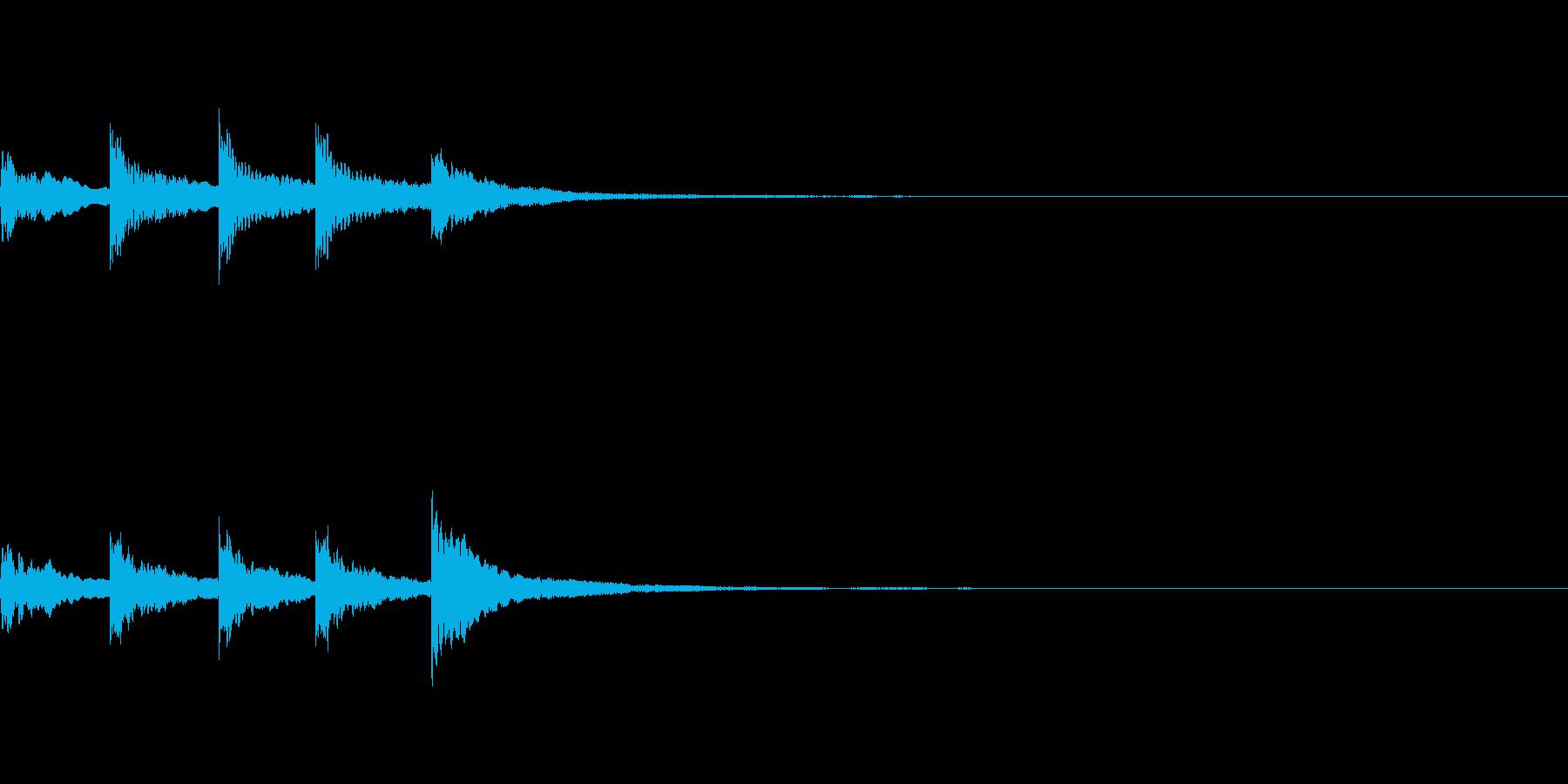 【SE 効果音】ティロティリロリンの再生済みの波形