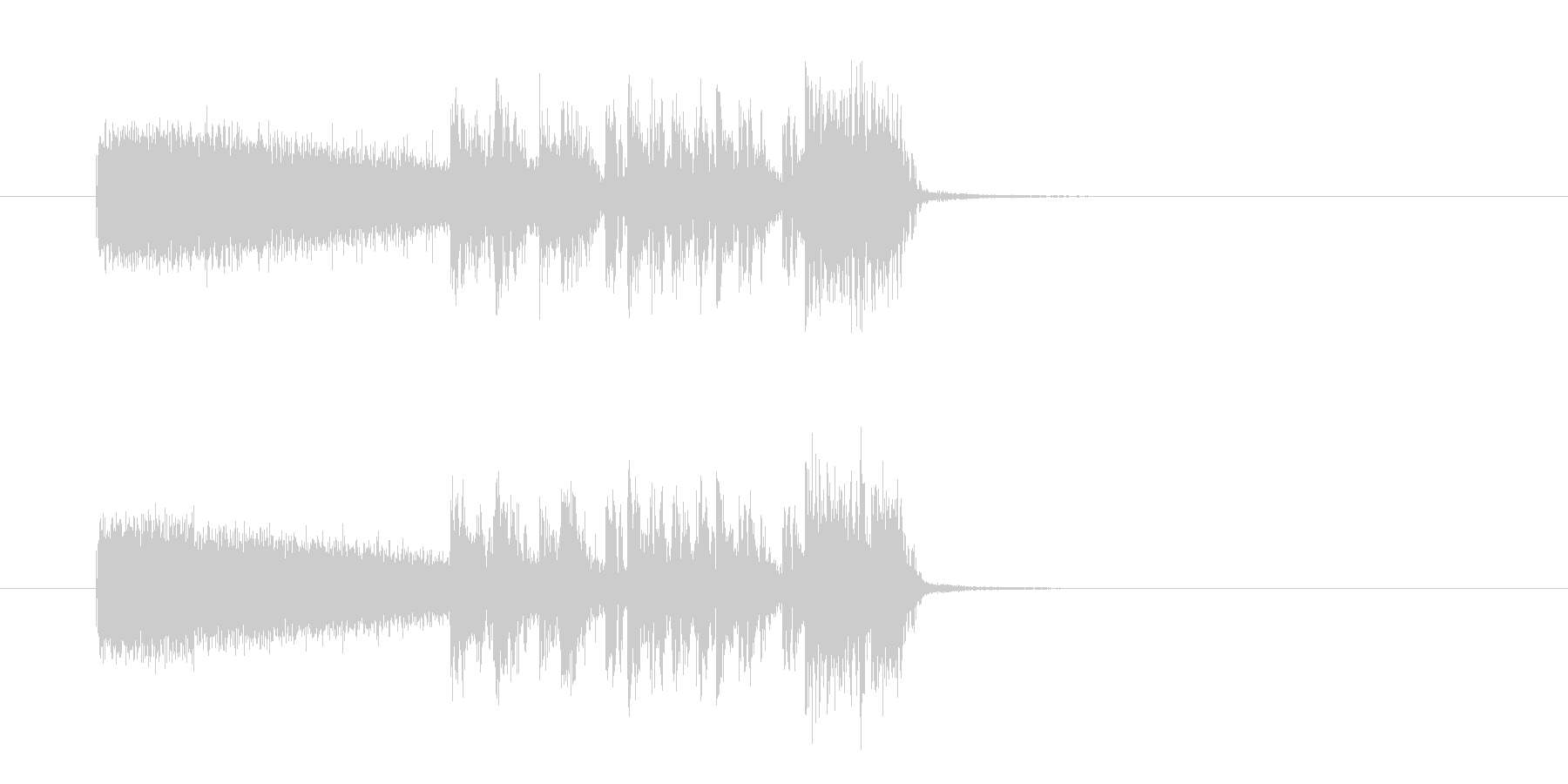おしゃれで勢いあるギターサウンド(短め)の未再生の波形