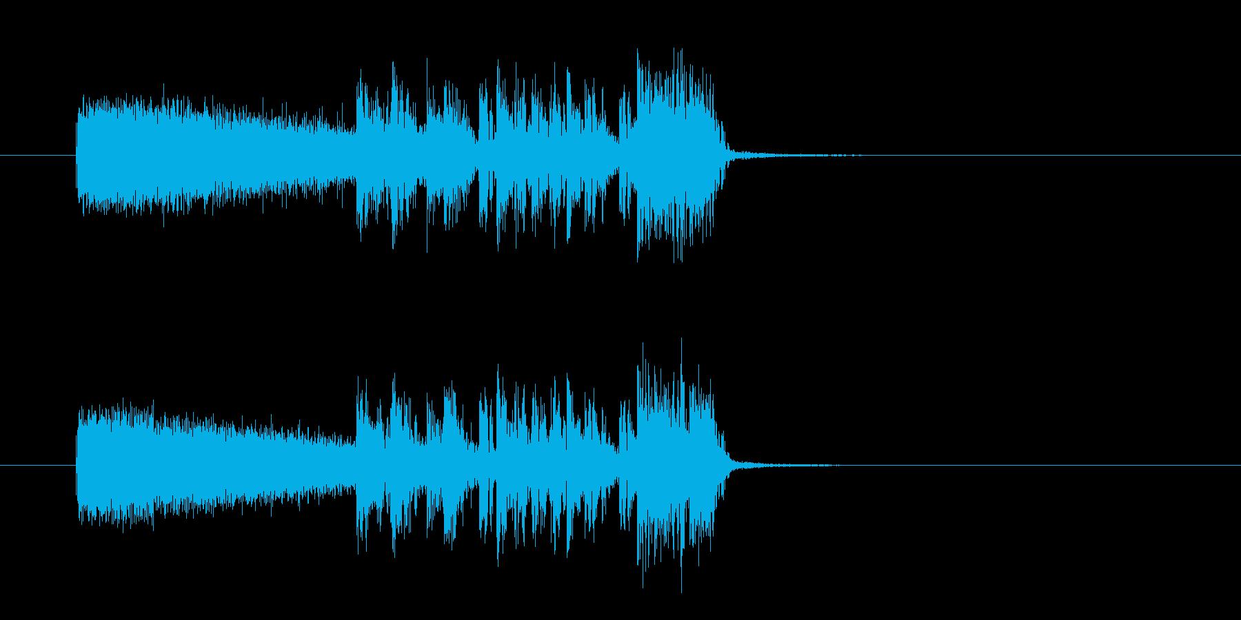 おしゃれで勢いあるギターサウンド(短め)の再生済みの波形
