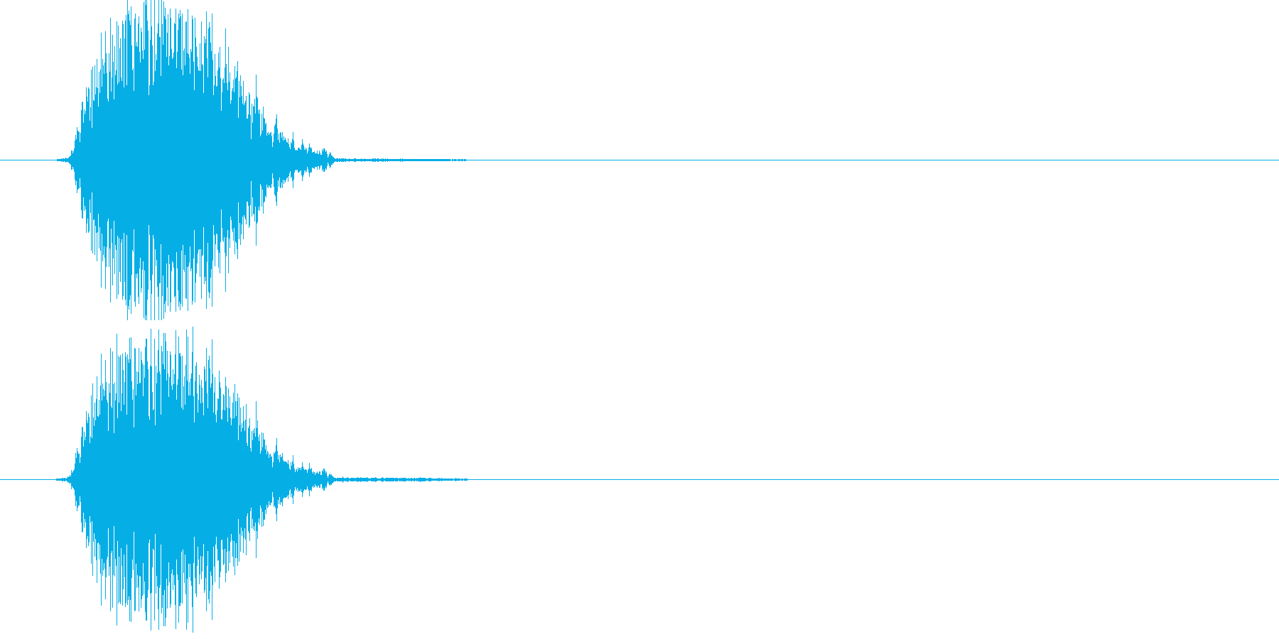 シュッ(スワイプ、アプリ)の再生済みの波形
