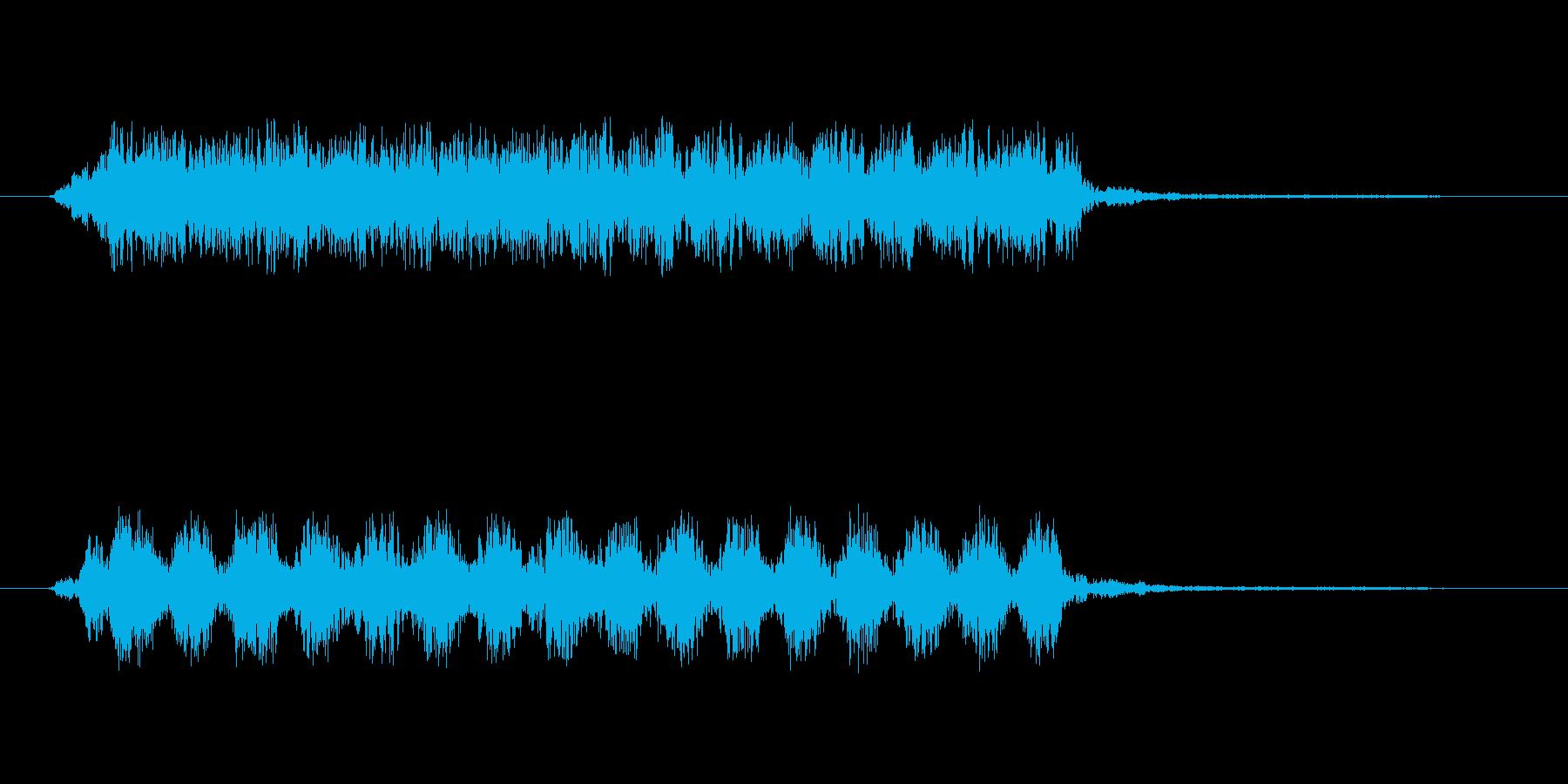 【チキチキ】PC風の文字がでる時等にの再生済みの波形