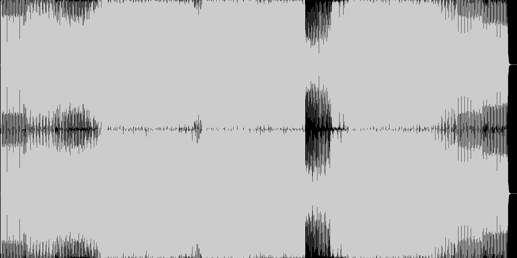 ノリのいいテクノ系ダンスミュージックの未再生の波形