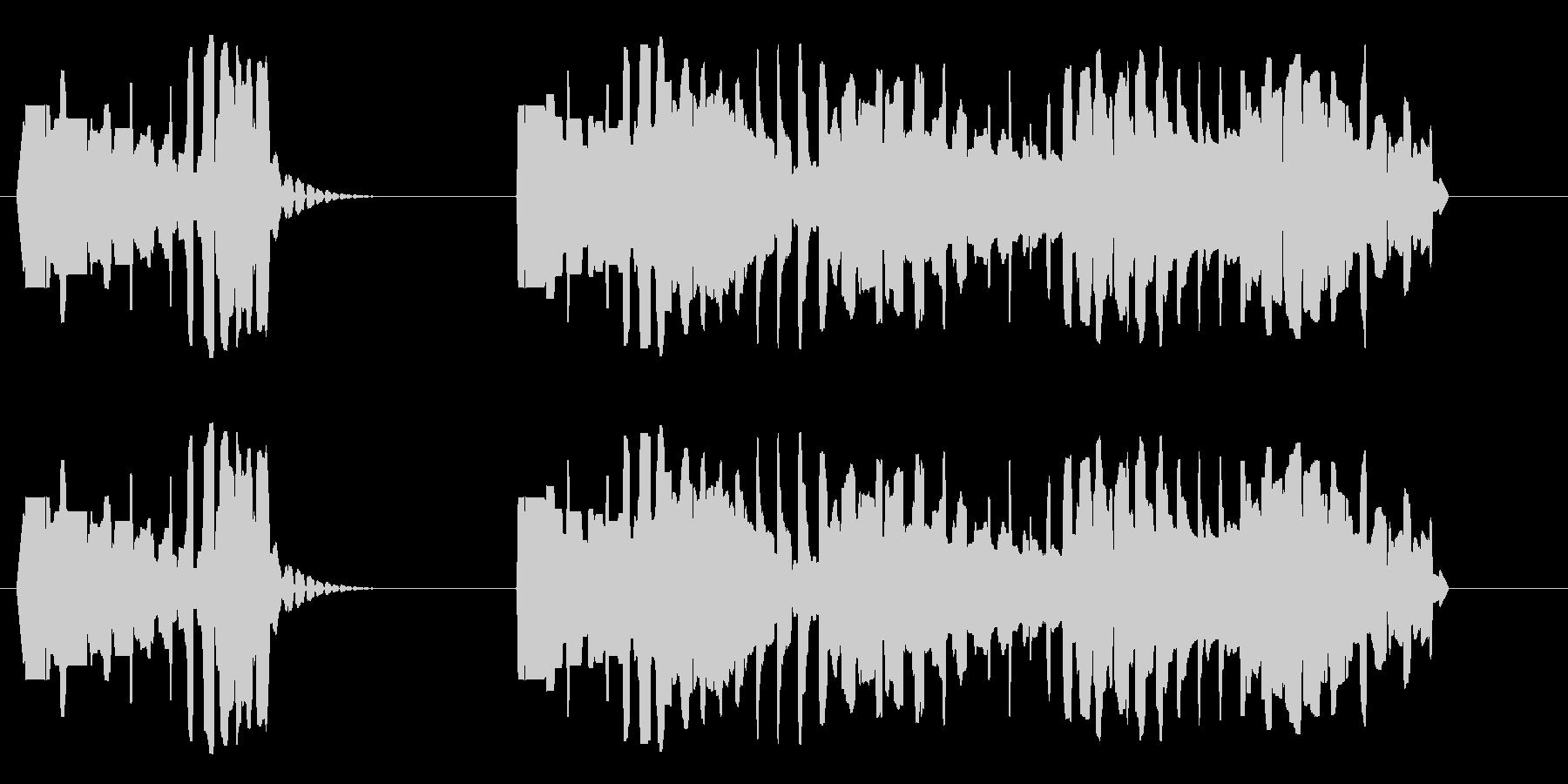 ブッブー(濁った低音で不正解告知)の未再生の波形