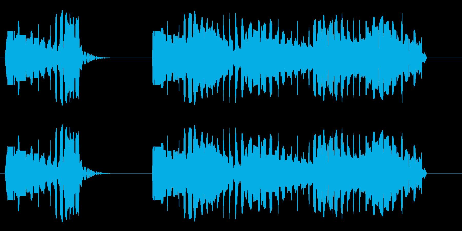 ブッブー(濁った低音で不正解告知)の再生済みの波形