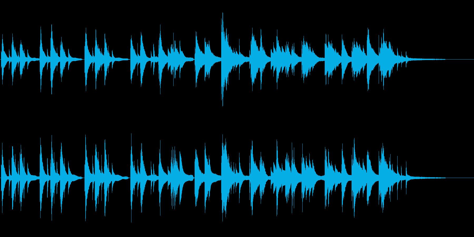切ない即興ピアノ曲。映画のワンシーン等にの再生済みの波形